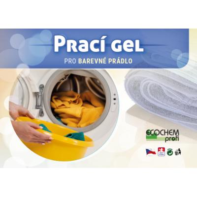 Prací gel ECOCHEM na barevné prádlo, 834 dávek, 25l