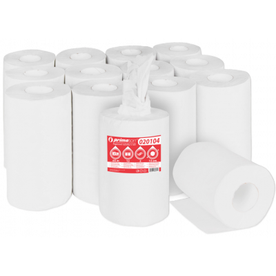 Papírové ručníky-utěrky MIDI , celulóza, 2-vrstvé bílé,...