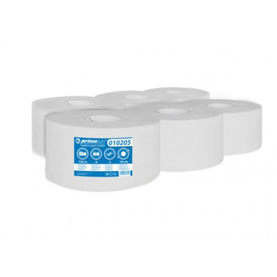 Toaletní papír JUMBO 190 Ø,2 vrstvý bělený recyklát-6 rolí