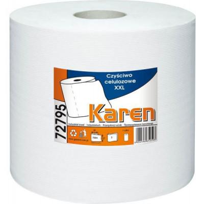 Papírové průmyslové utěrky KAREN XXL 72795 2-vrstvé bílé