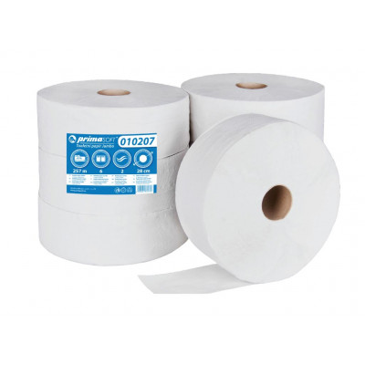 Toaletní papír JUMBO Ø 280, bělený recyklát, 2-vrstvý, 6...