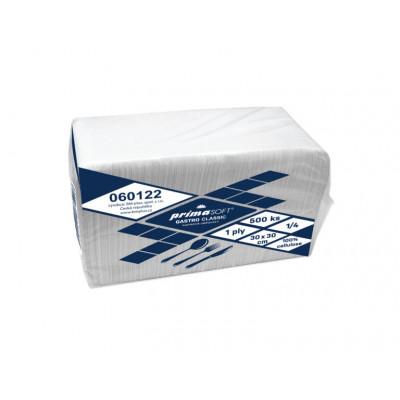 Ubrousky PrimaSoft clasic 33x33cm ,2-vrstvé extra bílá...